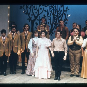 Students performing in theatrical production, ca. 1968
