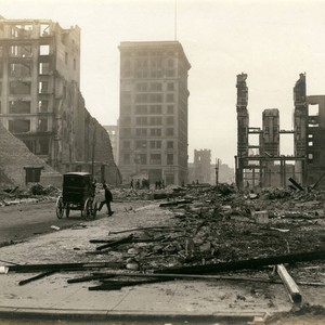 Marion, Shreve and R.G. Davis Buildings, San Francisco Earthquake and Fire, 1906 ...