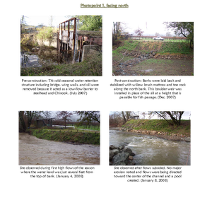 Photomonitoring: Dry Creek Fish Barrier and Bank Stabilization Project