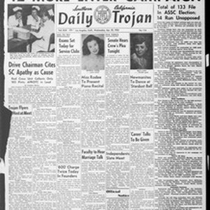 Daily Trojan, Vol. 44, No. 116, April 22, 1953