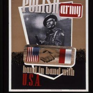 Polish Army hand in hand with U.S.A