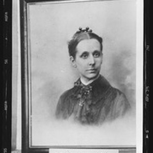 Portrait of Frances Potter, first missionary at Fresno Chinese Mission, 1884