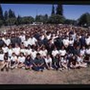 Student Body of Trace Elementary School with Principal Al Rosell, June 14, ...