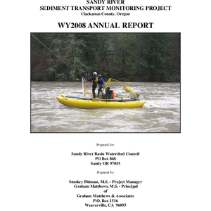 SANDY RIVER SEDIMENT TRANSPORT MONITORING REPORT: WY2008 ANNUAL REPORT