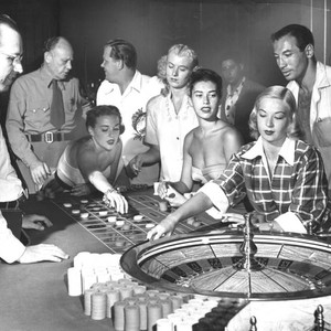 Customers at the roulette table