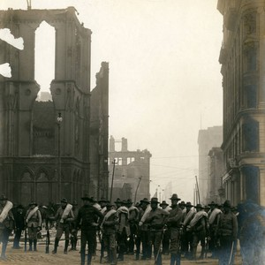 Masonic Temple and Montgomery Street, San Francisco Earthquake and Fire, 1906 [photograph]
