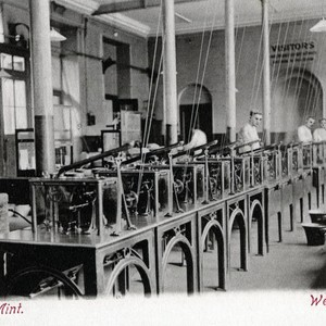 Postcard, Weighing Room, The Royal Mint