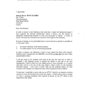 [Letter from Norman BS Jack to P Tlais regarding attachment of background ...