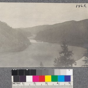 View of Klamath River at Ahpah east boundary of proposed redwood tract