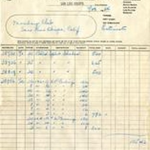 Invoice from Pacific Coast Coal Company