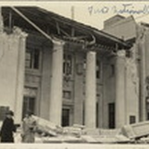Santa Barbara 1925 Earthquake Damage - First National Bank Building