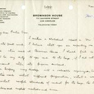 Mary J. Workman letter to Fr. Corr, 1919 November 23
