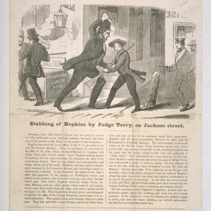 Stabbing of Hopkins by Judge Terry, on Jackson Street