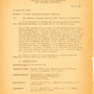 Memo from M. F. Hass, Lieutenant Colonel, Wartime Civil Control Administration, to ...