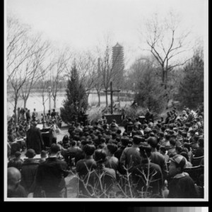 Easter worship service at Yenching University, Beijing, China, 1940