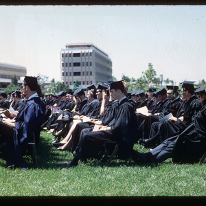 Commencement, students