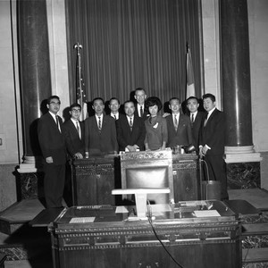 Council meeting, Los Angeles, 1963