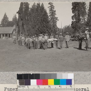 "Funeral ceremonies for ""General Disorder"" and ""General Inefficiency"" at Whitaker's Forest on ..."