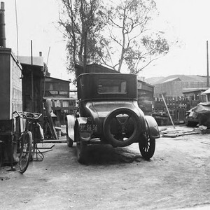Shacks, trailers and car