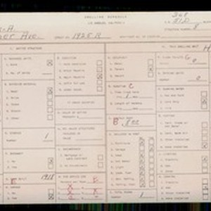 WPA household census for 1925 COTNER, Los Angeles