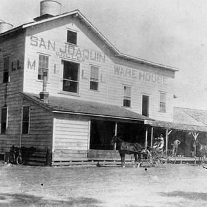 Calisphere: San Joaquin Roller Mill, Visalia, Calif , Late 1800s