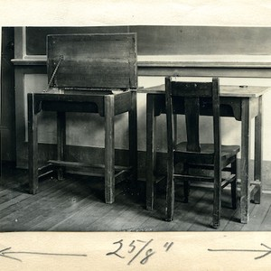 Furniture designed by CSAC students for Thousand Oaks School in 1918
