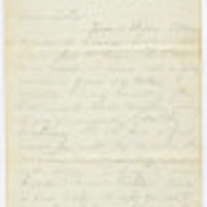 Letter from John Sell to His Parents, 1862 January 19