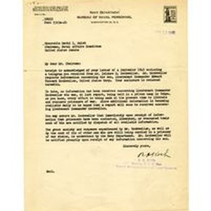 Letter from Navy Department Bureau of Naval Personnel to David I. Walsh, ...