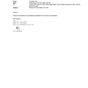 [Email from Fordhan Sue to Nigel Espin, Carol Martin, Robert Vaudrey and ...