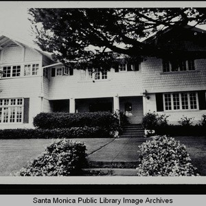 A. H. Fleming House, 325 Georgina Avenue, Palisades Tract, Santa Monica, Calif