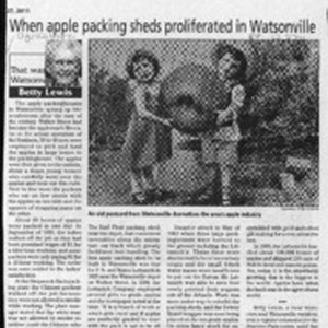 When apple packing sheds proliferated in Watsonville