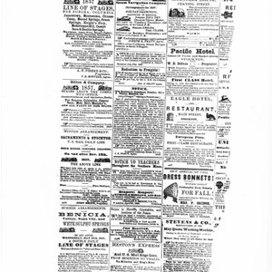 Advertising - Stockton: Advertisement from Stockton Newspaper