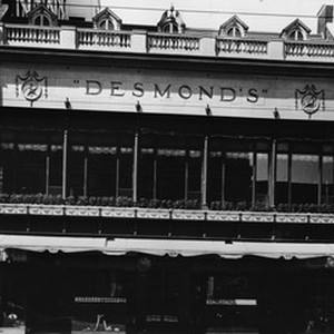 View of the Desmonds store front at Spring Street north of Sixth ...