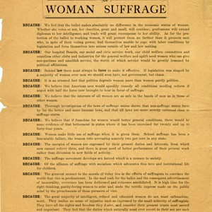 Why we do not approve of woman suffrage