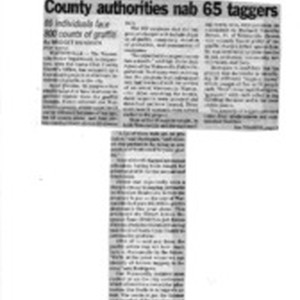 County authorities nab 65 taggers