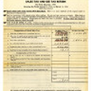 Sales tax and use tax return for first quarter, 1941 covering the ...