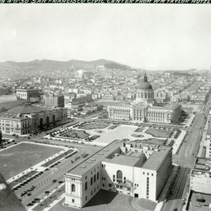 [San Francisco Civic Center from the Taylor Hotel]