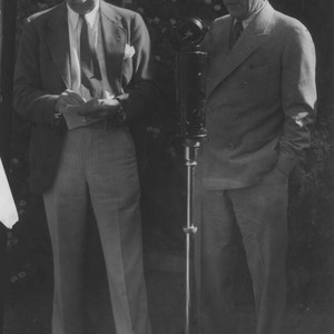 Upton Sinclair and unidentified man