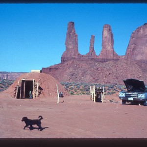 Navajo hogan (mud hut)