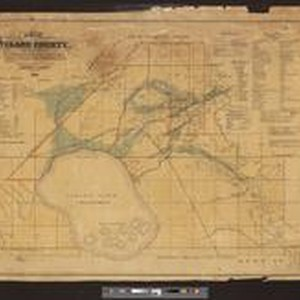 Map of Tulare County, California: divided into townships, school districts, & election ...
