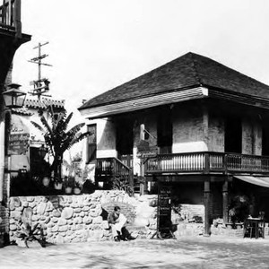 Photograph of Olvera Street side of Pelanconi House after restoration by Plaza ...
