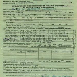 Application for a Certificate of Arrival and Preliminary Form for a Declaration ...