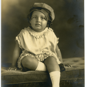 Portrait of Patricia Roberts, age three