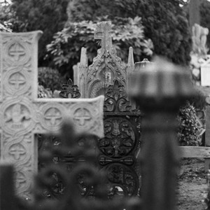 Crosses in a cemetery