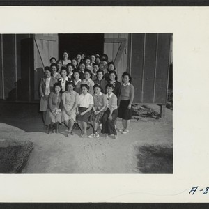 A group picture of the sewing school. Photographer: Stewart, Francis Poston, Arizona