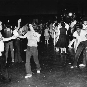 Unidentified dancers boogie the night away