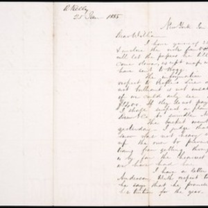 Robert Kelly III, letter, 1855 Jan. 25, to William Kelly