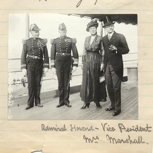 Admiral Howard with Vice President and Mrs. Marshall.