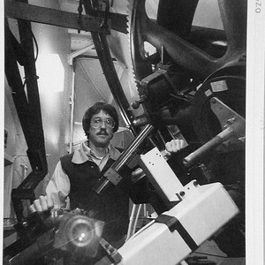 Douglas K. Duncan at the coude focus of the 100-inch telescope, Mount ...
