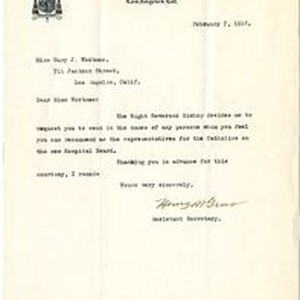 Henry Gross letter to Mary J. Workman, 1918 February 7